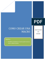 Práctica 3 Como crear macros