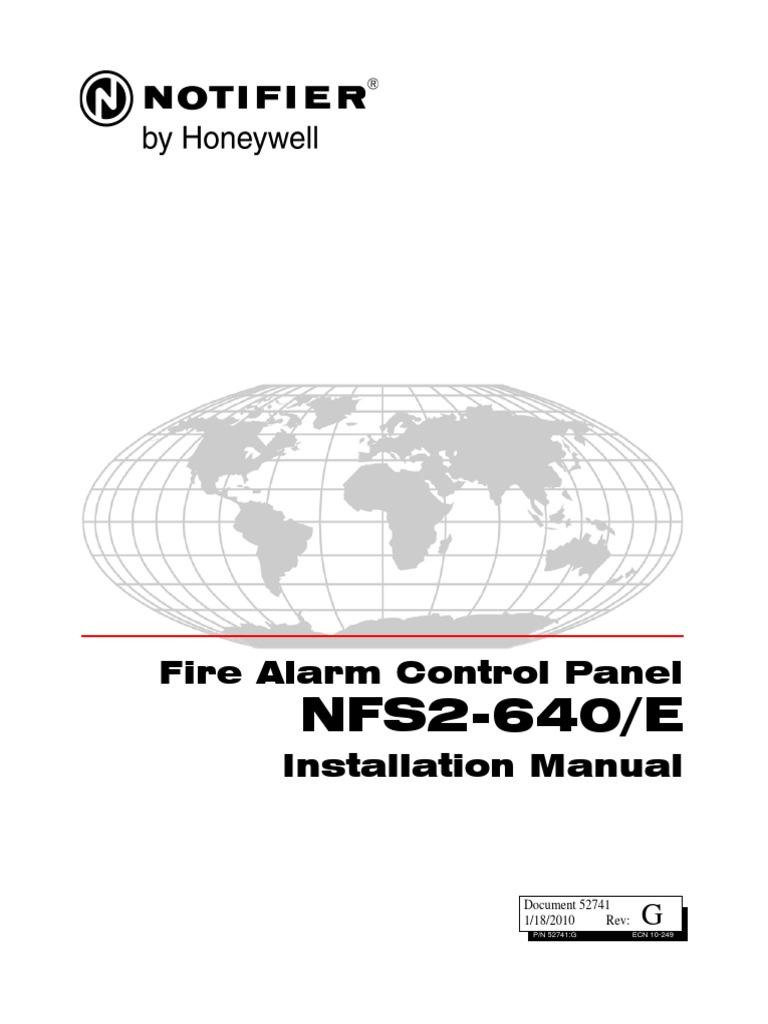 NFS2-640 Installation Manual 52741 | Fire Sprinkler System ...