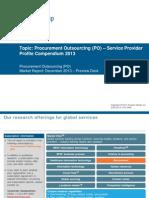 PO Service Provider Profile Compendium