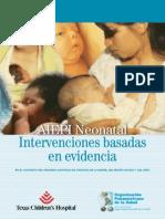 AIEPI Neonatal Intervenciones y Evidencia 2012