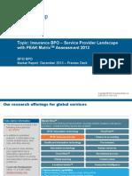 Insurance BPO - Service Provider Landscape with PEAK Matrix Assessment 2013