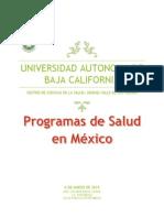 Programas de Salud en Mexico