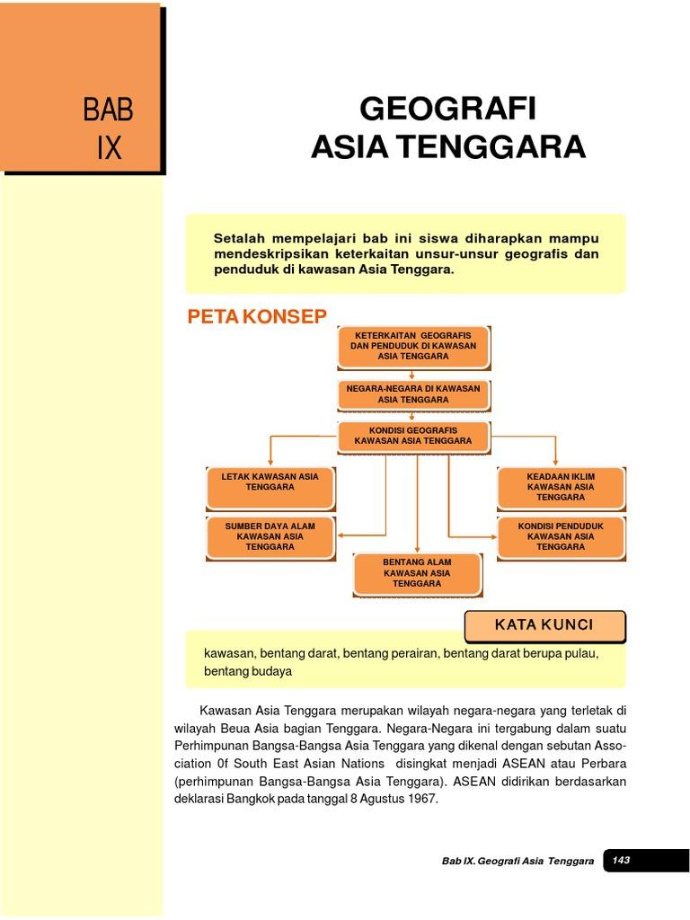 Ips Kls 9 Bab Geografi Asia Tenggara Gambar Peta Masing
