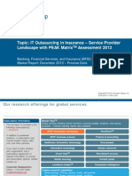 IT Outsourcing in Insurance - Service Provider Landscape with PEAK Matrix Assessment 2013