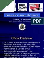 Restorative Composite Resins