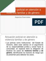 Actuación policial en atención a violencia familiar y