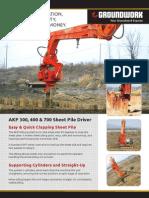 AKP 300,400 & 700 Sheet Pile Driver