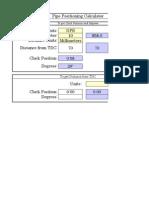 Pipe Position Calculator
