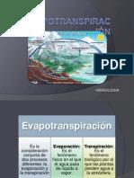 Evapotranspiración