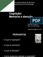 Psicobio19 - Cognição memória e atenção