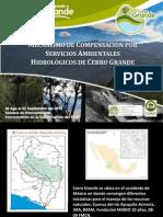 Mecanismo de Compensacion Por Servicios Ambientales Hidrologicos de Cerro Grande