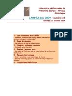 LAMPEA-Doc 2009 – numéro 34 / Vendredi 16 octobre 2009