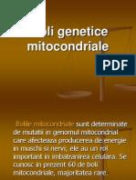 Boli Genetice Mitocondriale