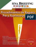 Procedimientos de Registro Pre y Post-Incorporacion