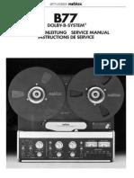 Revox B77 Dolby Serv LR