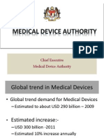 Introduction to Medical Device Act 2012 (Act 737) and Medical Device Authority Act 2012 (Act 738)