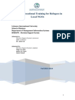 DSS Project Wafa Attas Submitted by Dr. Adeeb Eit - LIU Faculty of Business - MIS Departement