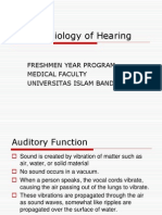 The Physiology of Hearing