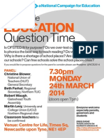 Newcastle EDUCATION QuestionTime