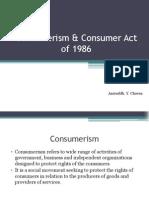 Consumerism & Consumer Act of 1986