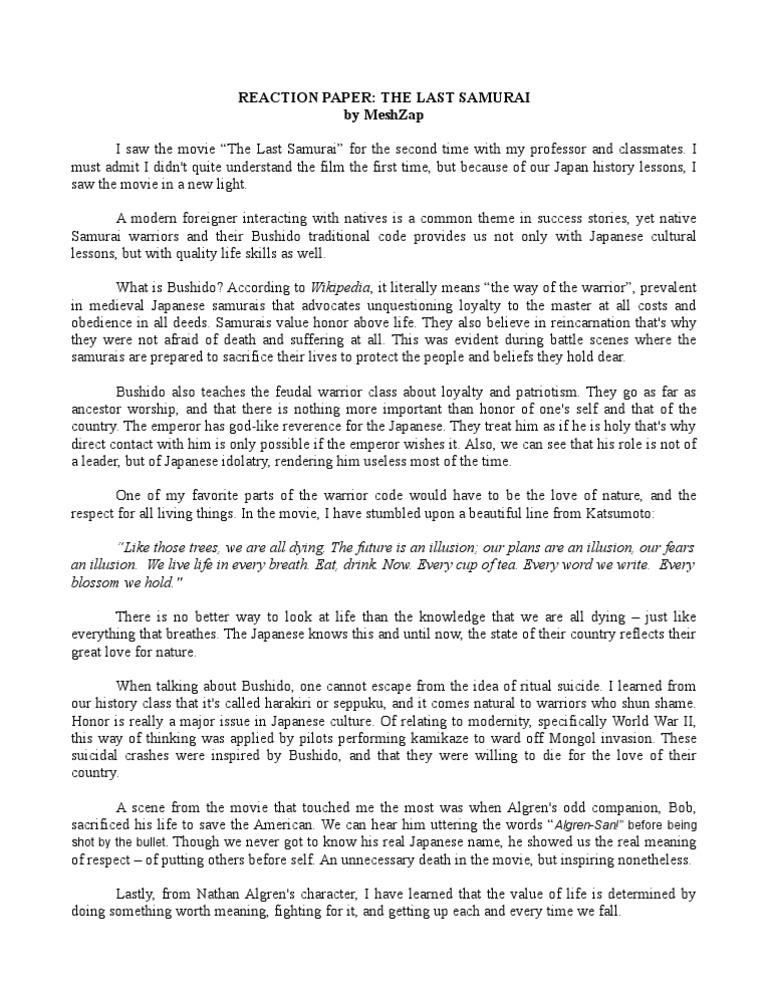 The Last Samurai Essay  Hepatitze