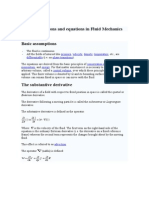 Basic Assumptions and Equations in Fluid Mechanics