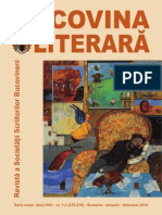 Revista Bucovina Literara nr. 1-2 pe 2014