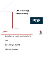 LTE and Scheduling