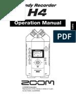 Zoom H4 Manual