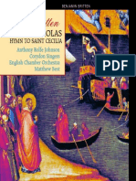 Britten - Saint Nicolas; Hymn to Saint Cecilia