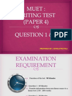 Muet Writing Paper