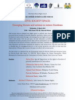 HRC25 Invitation Threats to Civil Society Space Side Event