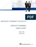 SCM Demo Script - Capacity Planning