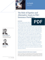 13-1524 in Depth the Role of Equities and Alternative Assets in P C Insu