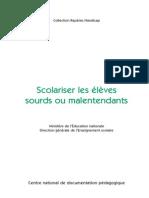 Guide Scolariser Eleves Sourds Et Malentendants 142904