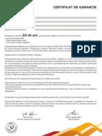 Certificat de Garantie Mediterran