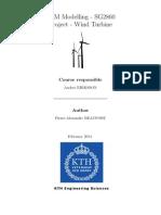FEM Modelling of a Static Wind Turbine