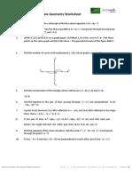 Year 9 Coordinate Geometry Worksheet