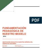 FUNDAMENTACIÓN PEDAGÓGICA DE NUESTRO MODELO