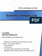 sunriches solar pumping system