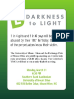 Mount Olive College Darkness to Light 2014 event