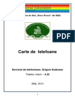 Carte de Telefoane 14.03.2013 Tipar