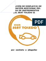Manual display de información Seat Toledo II