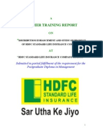 Project on HDFC Standard Life Insurance Company
