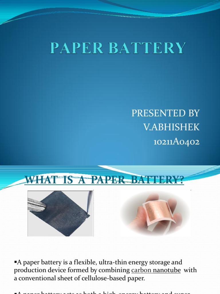 carbon nanotube paper battery