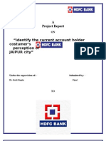 Project on HDFC Bank