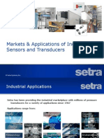 Markets & Applications of Industrial Sensors and Transducers