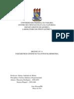 Relatorio FQ III - Pratica 4
