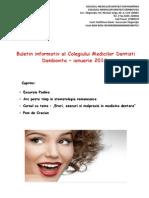 Buletin Informativ Colegiul Medicilor Dentisti Dambovita Ianuarie 2014