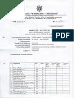 Concurs privind achiziționarea materialelor de construcție și produselor auxiliare